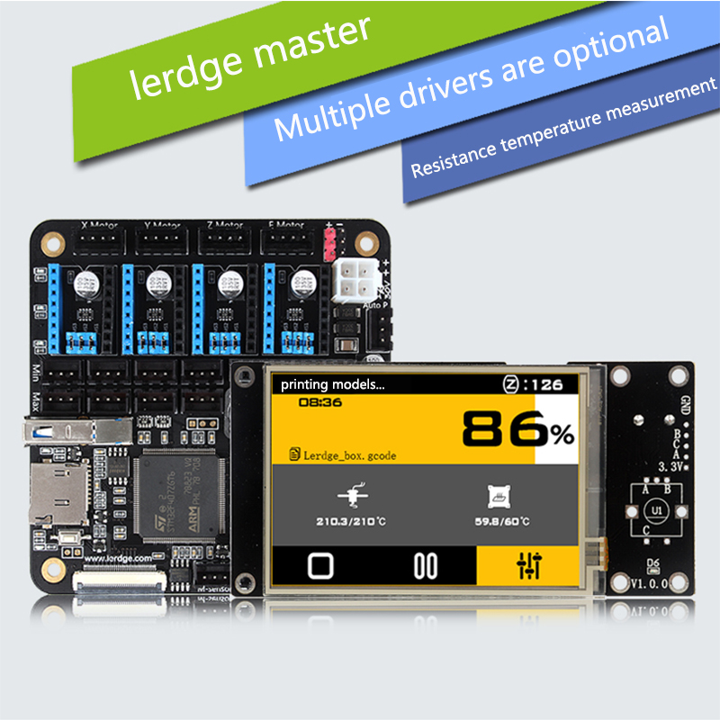 LERDGE 3D Printer Controller Board voor Reprap 3d-printer moederbord met ARM 32Bit Mainboard controle met 3.5 TFT Touchscreen chip lqfp32 stm32f030k6t6 patch 32 bit arm micro controller
