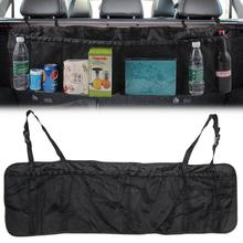 Samochód SUV fotel w bagażniku torba organizator regulowane przechowywanie z tyłu siedzenia torba netto duża pojemność składany Auto układanie Tidying akcesoria tanie tanio AndyGo Pojemnik do bagażnika Torba Oxford cloth Black