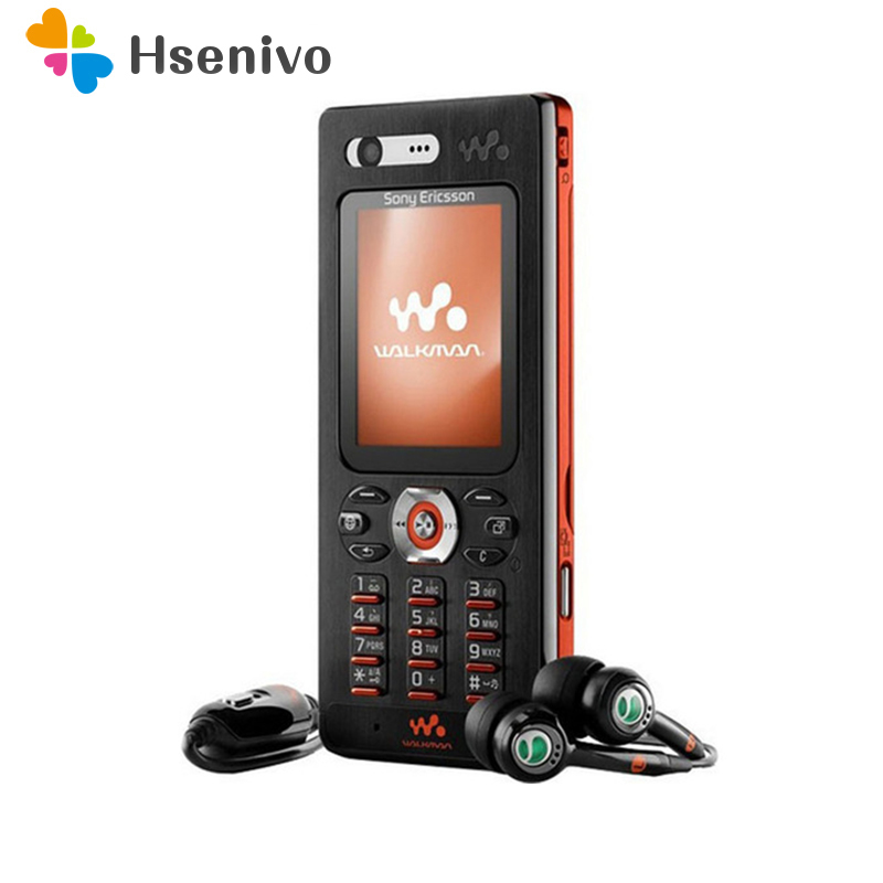 100% D'origine Sony Ericsson w880 w880i Téléphones Cellulaires Débloqué w880 Téléphone Mobile 3g Bluetooth MP3 Lecteur et Un An w Livraison Gratuite
