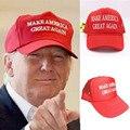 2016 Женщины Мужчины Мода Сделать Америку Великой Снова Напечатанная Письмом Трамп Регулируемая Повседневная Бейсболке Hat Белый/Красный