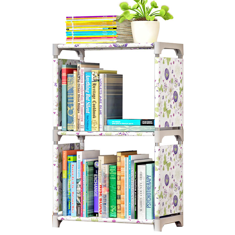 цены ALALAd Simple bookshelf bookcase shelf racks creative combination of shelf floor children's bookcase