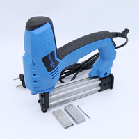 200V 240V Electric Staple Gun 2 In 1 Brad Nailer & Stapler Electric Nail Power Tool with 500 pcs nails for wood furniture