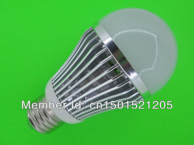 10W LED bulbs, dimming bubble bulb AC85 - 265V, E27 , silver shell color, warm / cool white ,5 *2W+ Free shipping