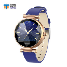 MATEYOU color smart sports watch circular screen simple heart rate sleep lady bracelet