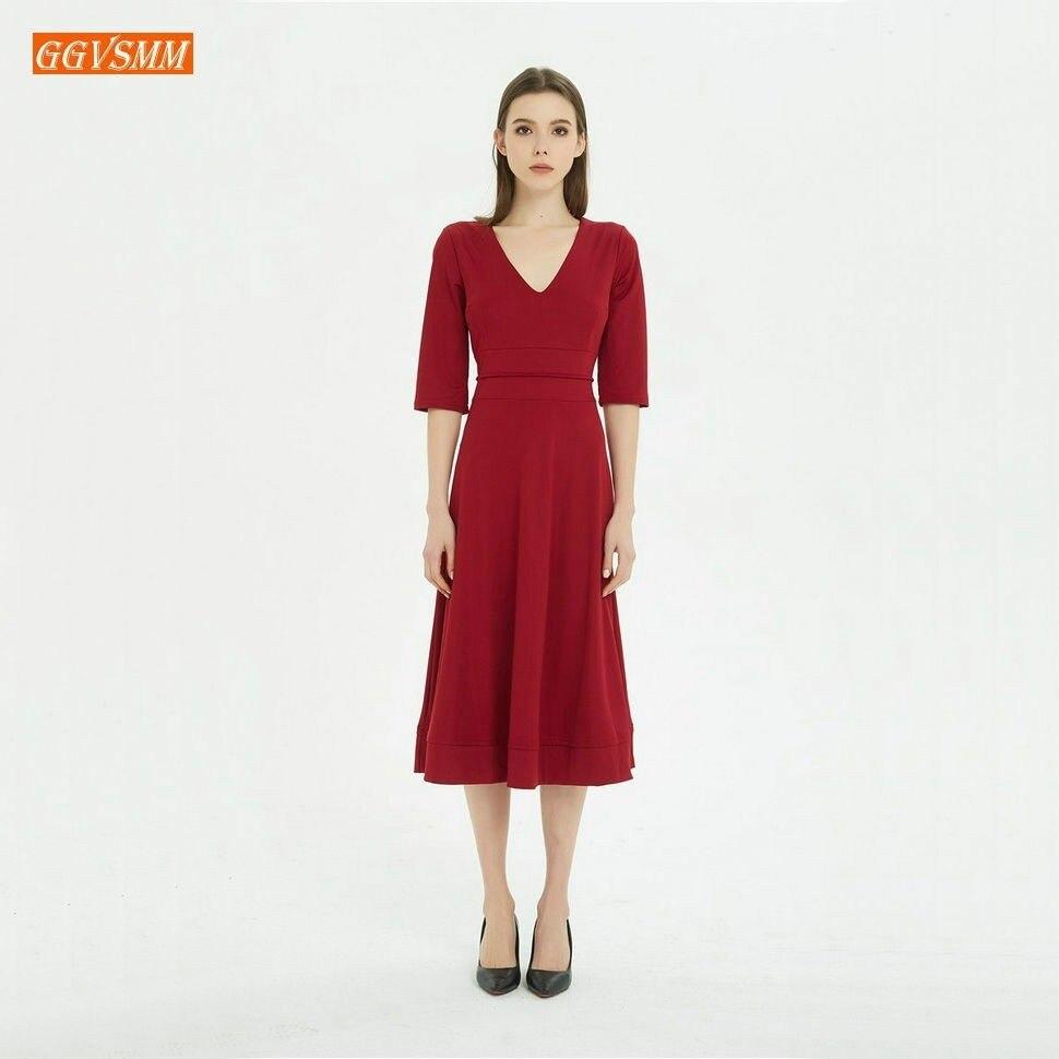 Stylish BOHO Evening Dresses Long Party 2019 Bohemian Evening Gown V Neck Tea Length Stretch fabric