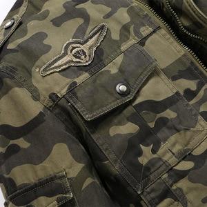 Image 4 - חדש 2019 צבא צבאי מעיל גברים טקטי הסוואה מזדמן אופנה מעילי טייסי בתוספת גודל M XXXL 4XL