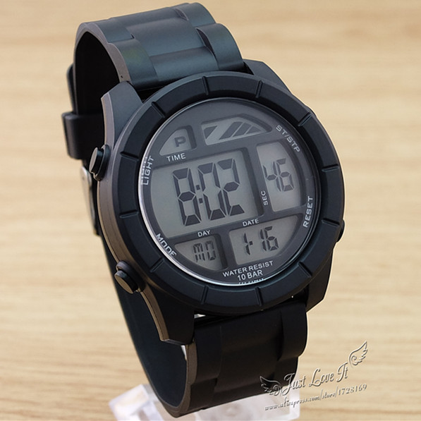 New 2016 Sports Watch boys Men s Rubber Strap Led Digital Wristwatches Hot Style 5 colors