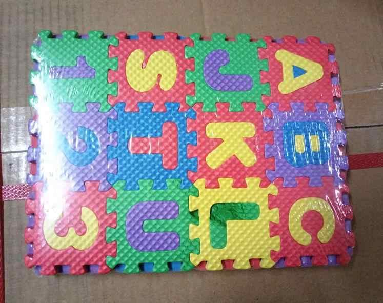 36 шт./компл. детский игровой коврик Детский мультфильм буквы цифры пенопластовый игровой коврик для пола обучающая игрушка для детей украшение дома