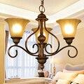 Несколько люстр свет Мода освещение лампы деревенский кованого железа лампы Американский стиль лампы