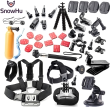 SnowHu For Gopro accessories set  for gopro hero 5 5S  4 3 Eken h9 r h8 SJCAM camera tripod for go pro kit xiaomi yi 4K GS52