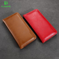 FLOVEME Leather Wallet Case For IPhone 6 6s Plus 7 7 Plus 5 Universal Phone Pouch