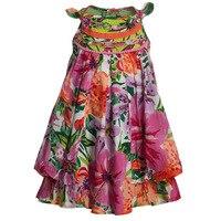2016 Summer New Arrival Hot Sale Catimini Girls Vest Fancy Dress Baby Girl Bow Floral Print