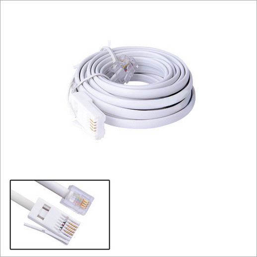 High Speed 10FT 3 Meters RJ11 Phone Cord RJ11 UK 6P4C British Telephone Phone ADSL Modem Line Cable(China)
