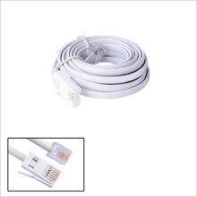 Высокоскоростной 10FT 3 метра RJ11 телефонный шнур RJ11 UK 6P4C британский телефонный ADSL модем линейный кабель
