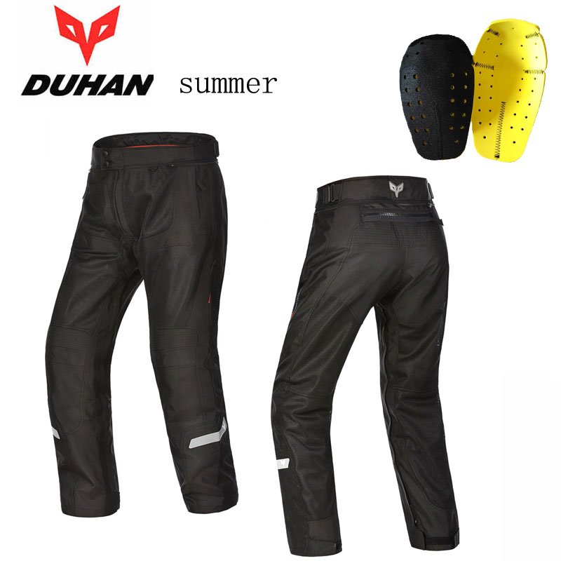 2017 Newest summer mesh DUHAN motorcycle riding pant Moto racing pants man motorbike trousers 600D oxford cloth size M L XL XXL