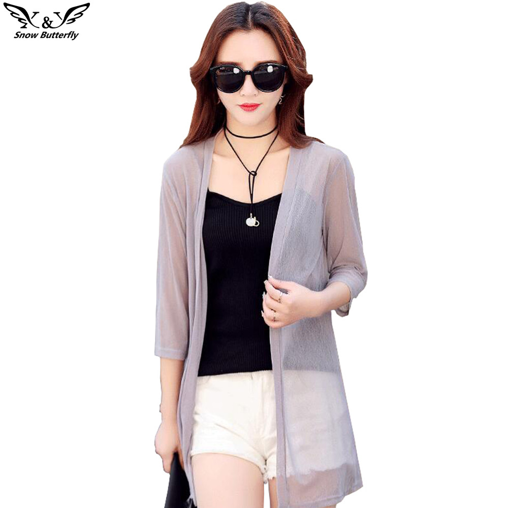 2019 High Quality Summer Kimono Cardigan Women Tops Blouses Shirts Chiffon Sunscreen Shirts Loose Clothes Blusas Cardigan Shawl
