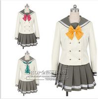 Anime Love Live! Sunshine!! Aqours Kurosawa Ruby Cute Sailor Suit Cosplay Costume Summer School Uniform Lolita Gilr Dress