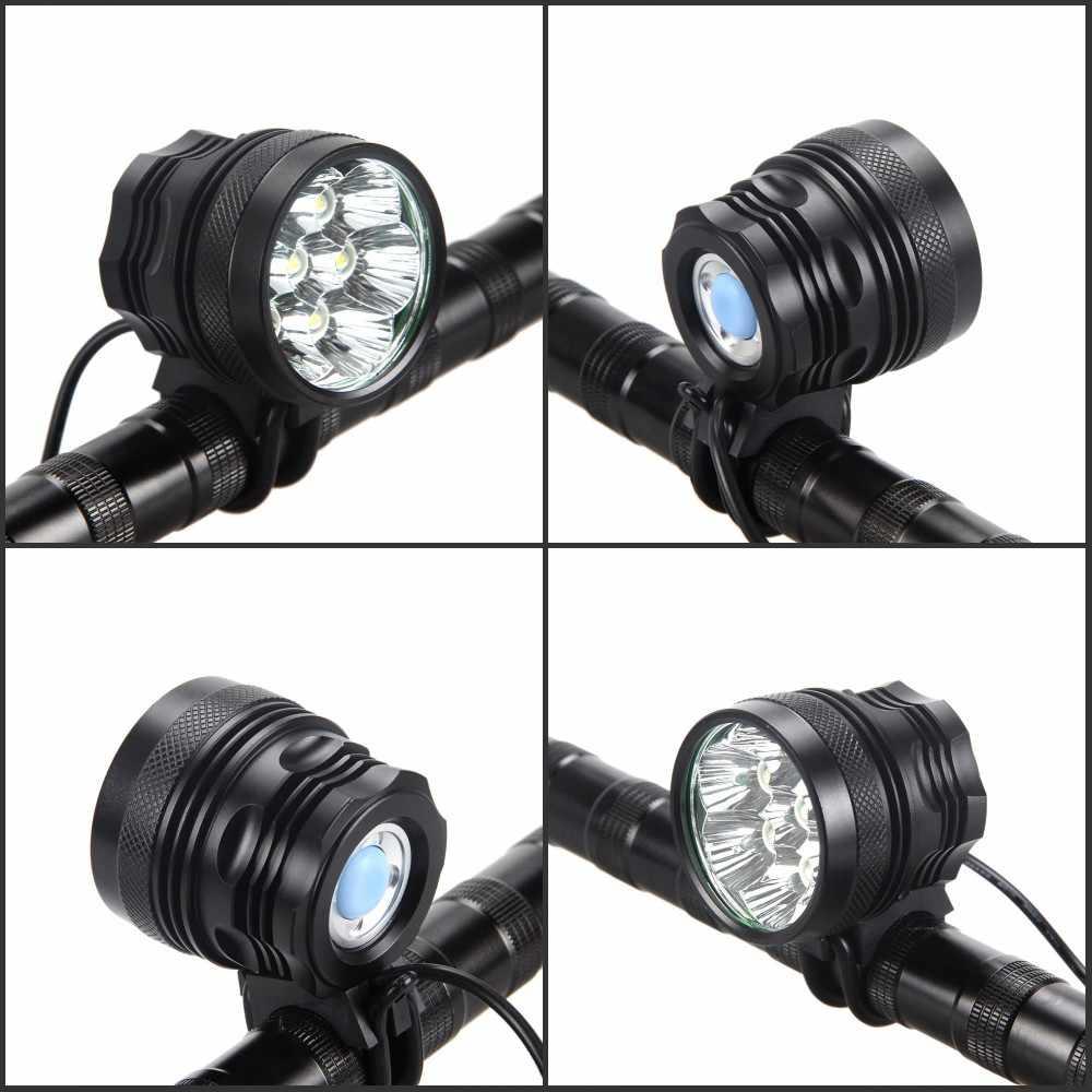 8500lm 7X XM-L T6 светодиодный свет велосипеда головной спереди Велоспорт лампы велосипедов фары + 12000 mAh Батарея Pack