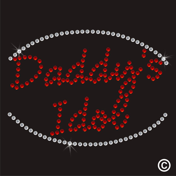 2 pc / lot Daddy's Pop Idol Rhinestone Apliques de diseño hot fix - Artes, artesanía y costura