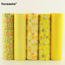 Materials Sewing Plain 5 Pieces 50cm*50cm 5 Free Pattern Cotton Fabric Tissues Different Color Desk and Gift Decoration Art Work(China)