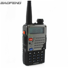 BaoFeng UV-5RE Plus Metal hitam Walkie Talkie Black Ham Amatur Dua Jalan Radio Dual Band 136-174 & 400-520MHz Radio VHF UHF