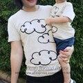 2016 New Kids Kinds Cloud T-shirt Tops Baby Boys Girls Tee t shirt Children t shirt Toddlers Clothing Spring Summer