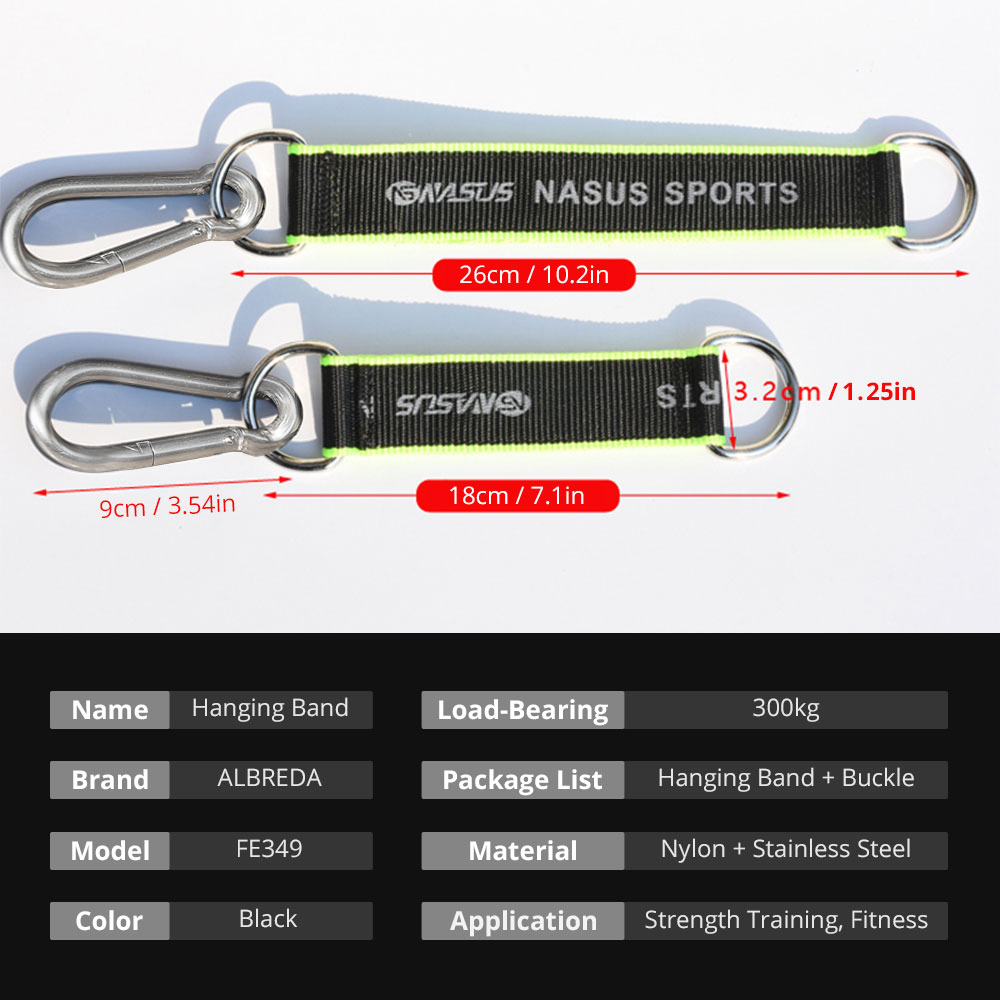 1pc Multifunction Fitness equipment hook Ring Hanging Belt with Hook Hanging Sandbag Pull Up Rope Fitness Equipment Accessories 5