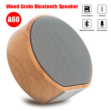 Portable Mini Subwoofer Audio Stereo Loudspeaker Wireless Bluetooth Wood Grain Speaker Support AUX TF Card for iPhone Android цена