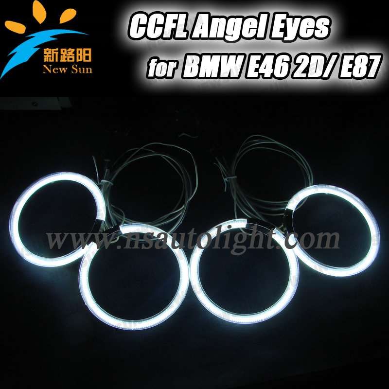 ФОТО 4x 105mm CCFL rings for BMW e46 2D white blue yellow red orange ccfl halo for car decoration ccfl e46 angel eyes rings