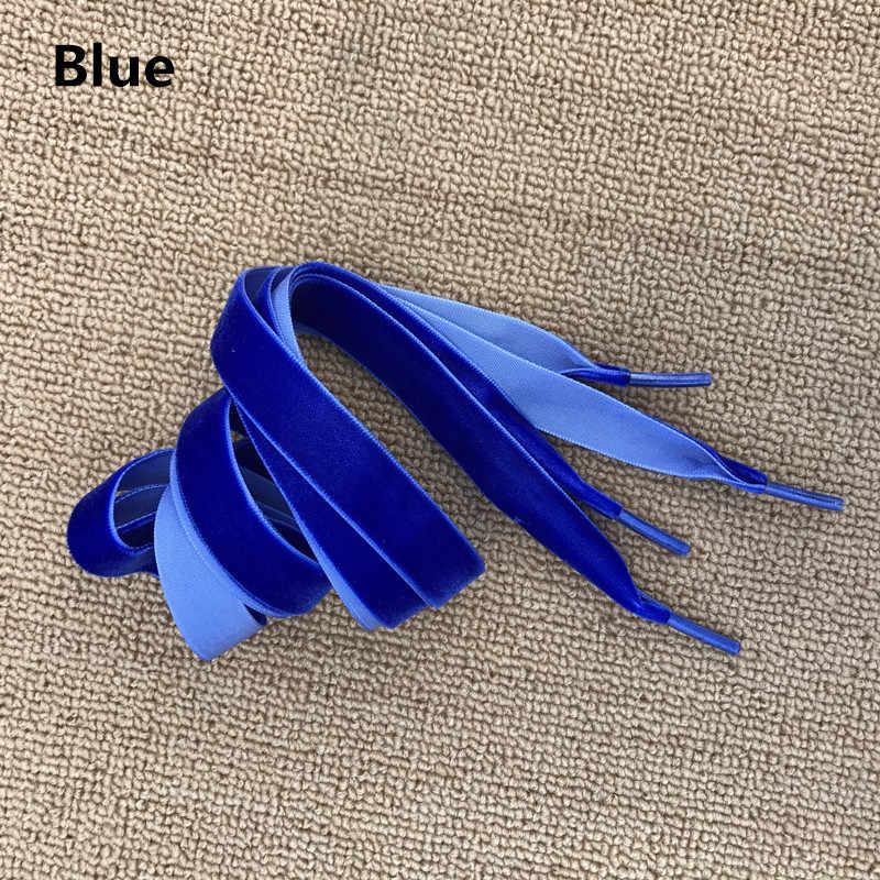 80 Cm/120 Cm Lengte 1.6 Cm Breedte Fluwelen Oppervlak Schoenveters Vrouwen Mannen Zwart Wit Blauw Kleurrijke Lederen Sport casual Schoenen Veters