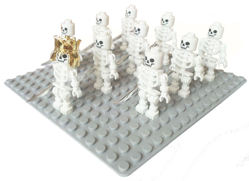 10pcs Skeleton (Swivel Arms) Prince of Persia Building Block spaceman astronaut land for ...
