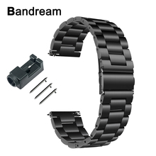 Quick Release Stainless Steel Watchband + Tool for Fitbit Versa Fitness Smart Watch Band Wrist Strap Link Bracelet Black Silver