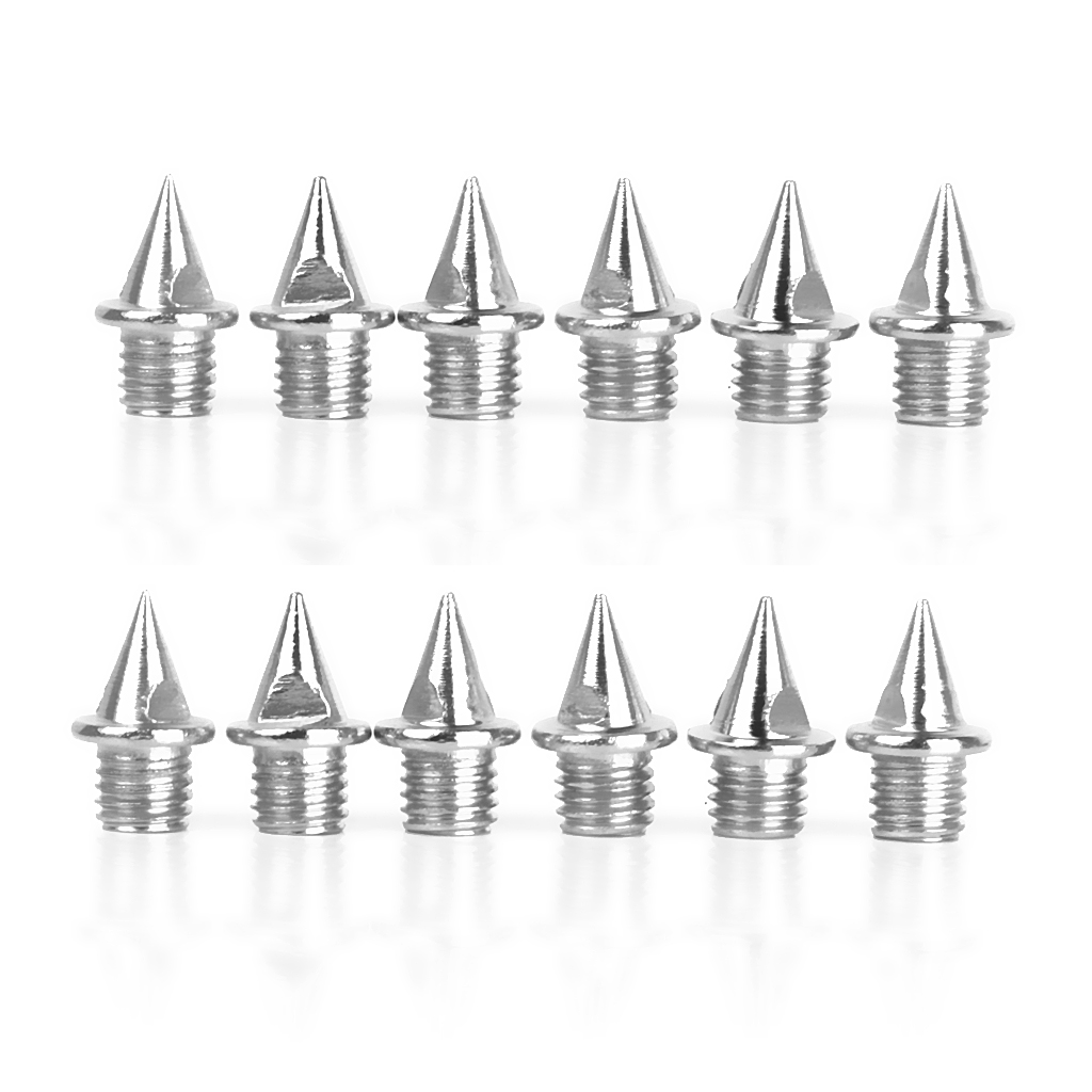 12pcs Stainless Steel Replacement Shoes Spikes Fits Almost All Athletics Athletic Running Track Field Cross Country Spikes