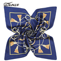 ladies scarves stoles headscarf Female foulard femme Ring Neckerchief Warm Shawl Silk Scarf Women print square bandana pz016