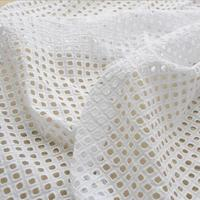 White Square Hollow Lace Cloth Embroidered Women S Summer Cotton Cloth Hollow Lace Fabric RS713