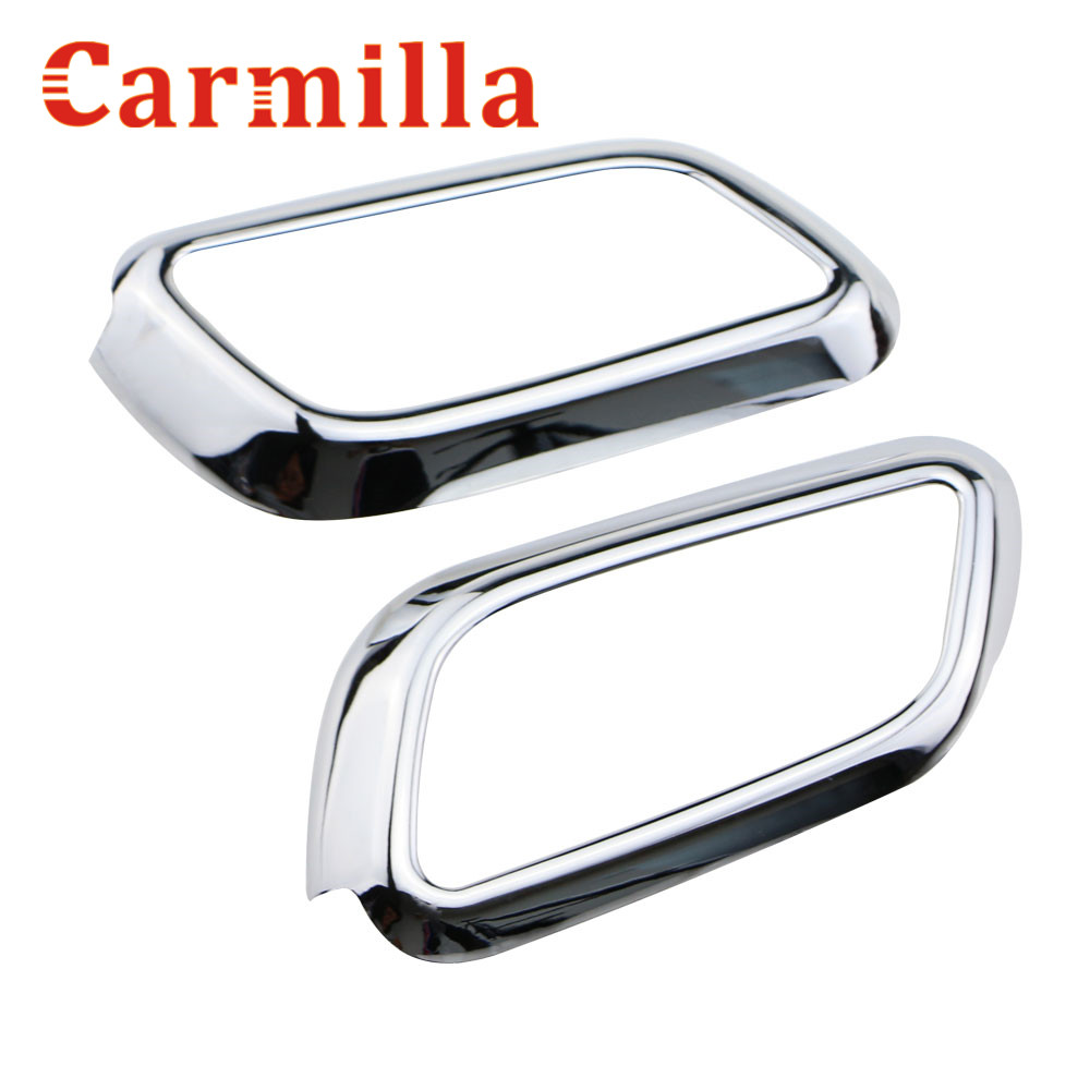 Carmilla Car Inner Frame Handle Frame Sequin Cover Sticker Chrome Diubahsuai Untuk Chevrolet Chevy Malibu 2012 2013 2014 2015