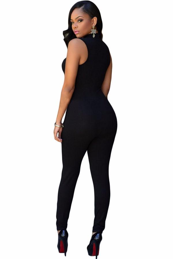 Black-Pee-hole-Bust-Sleeveless-Jumpsuit-LC64033-2-2