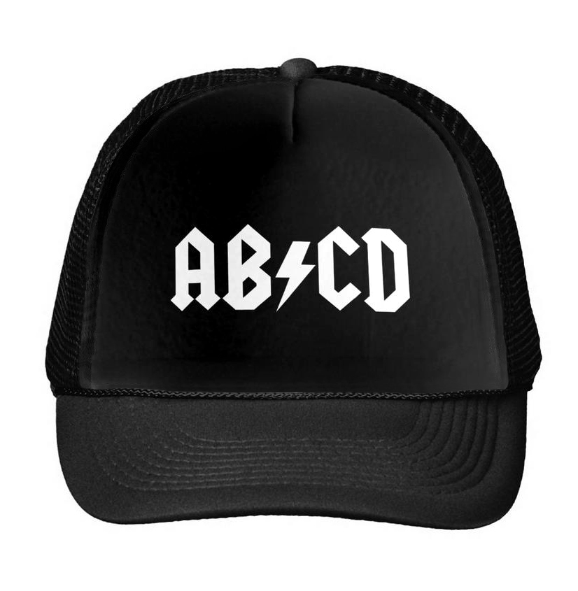 ABCD Print Baseball Cap Trucker Hat For Women Men Unisex Mesh Adjustable Size Drop Ship Black White M-11 hot sale adjustable men women peaked hat hiphop adjustable strapback baseball cap black white pink one size 3 colors dm 6