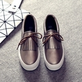 Повседневная Холст Обувь Новое Прибытие Мода Slip-on Повседневная Дышащей Обуви Летом Стиль Мокасины с Кистями Размер 35 ~ 40