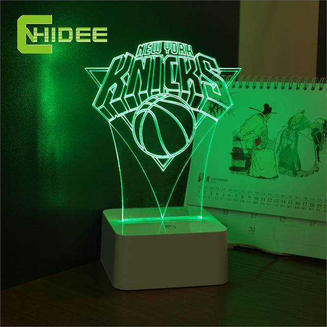 CNHidee Innovative USB 3d Lamp for New York NBA Basketball Dimmable LED Night Light as Lampara de Mesa