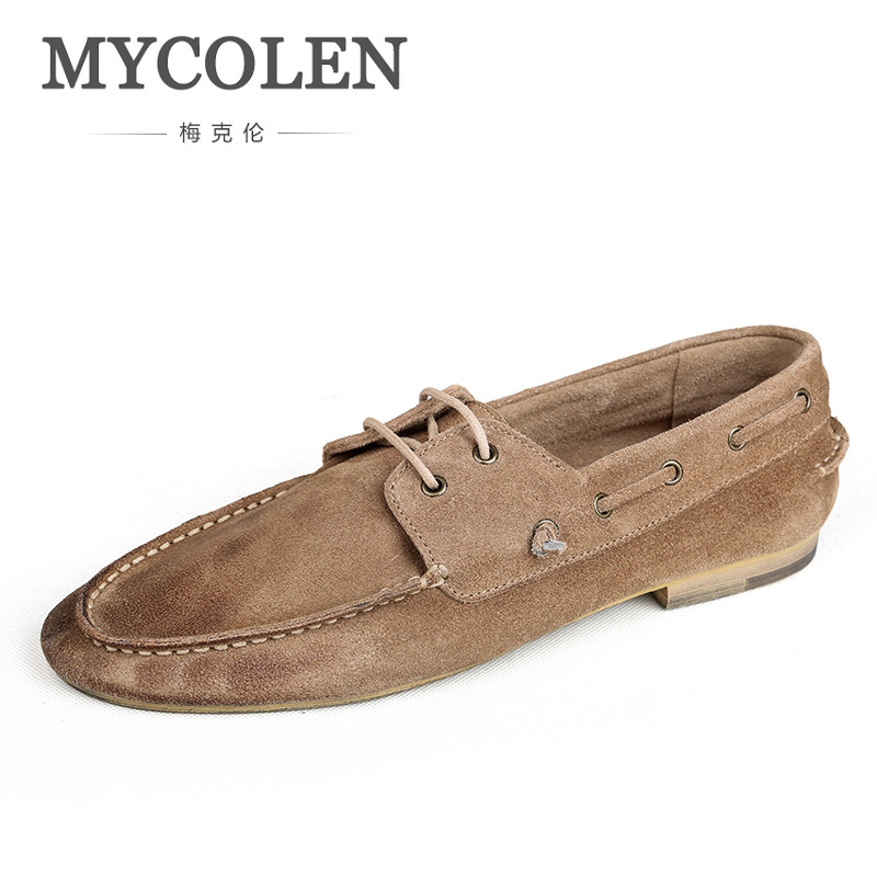 MYCOLEN Brand Casual Shoes Comfortable Mens Loafers Shoes High Quality Leather Moccasins Men Flats Sapato Casual Masculino baby stroller ultra light portable shock absorbers bb child summer baby hadnd car umbrella