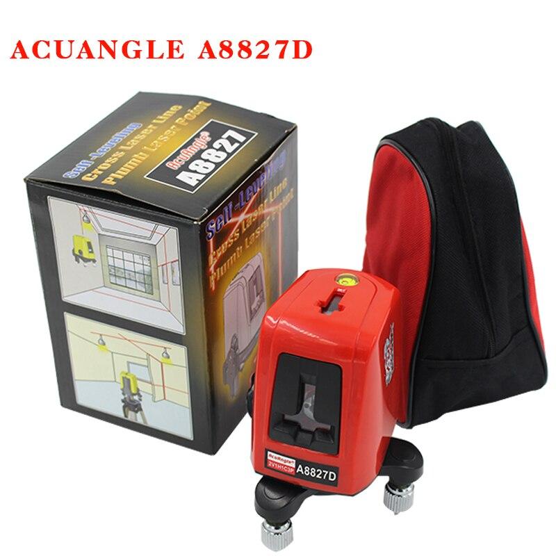 A8827D 360 Grado di Auto-livellamento 3 Linee di 3 Punti Rotary Orizzontale Verticale Rosso Livelli Laser Linea Trasversale laser + laser Mette In Evidenza