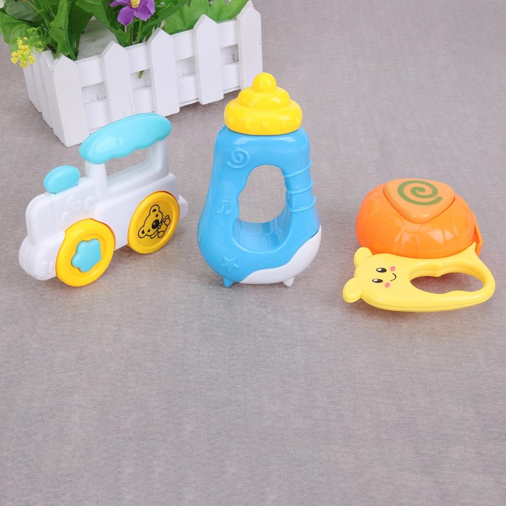 3 stks Baby Handbellen Baby Cartoon Handbellen Developmental - Speelgoed voor kinderen - Foto 2