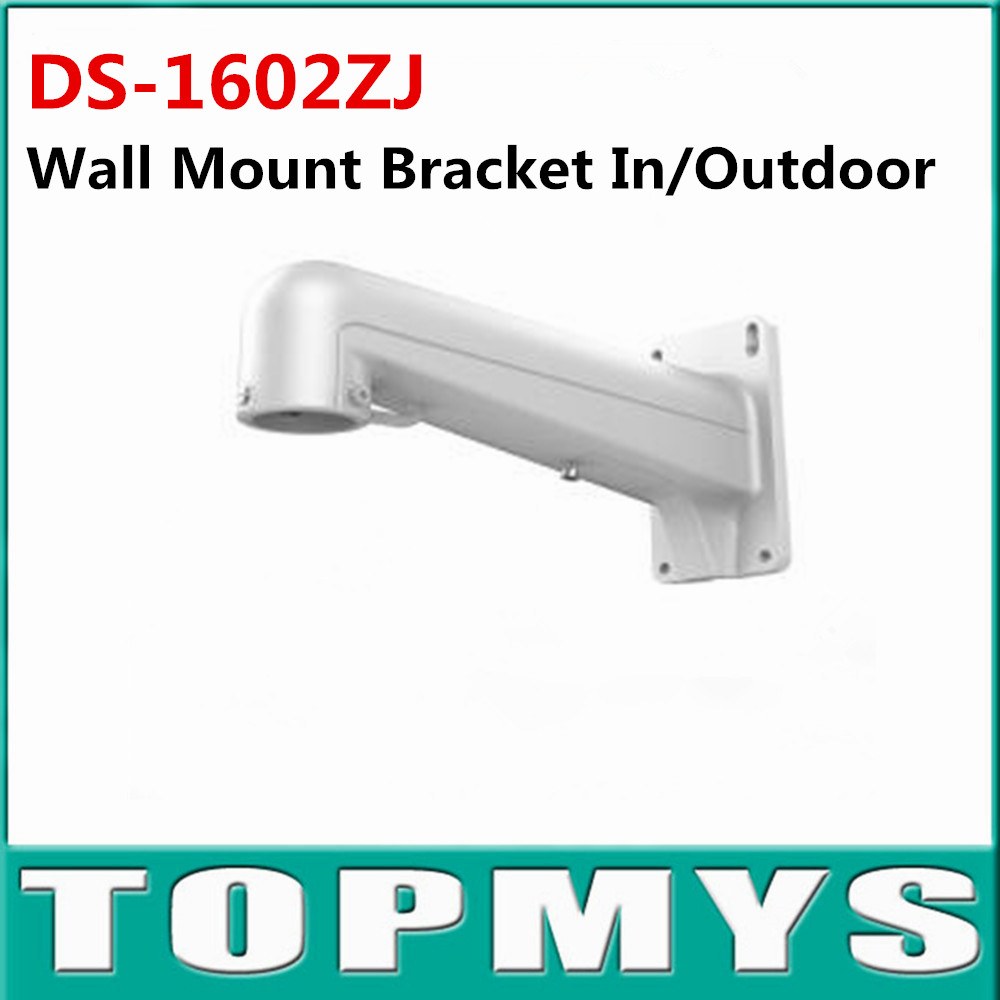 Bracket DS-1602ZJ White Aluminium alloy Wall Mount Bracket for Hikvision Dome ip camera Bracket for CCTV ip Camera ds 1276zj corner mount bracket for cctv camera