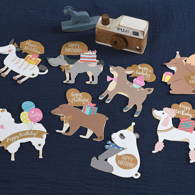 Animals Shaped Greeting Card