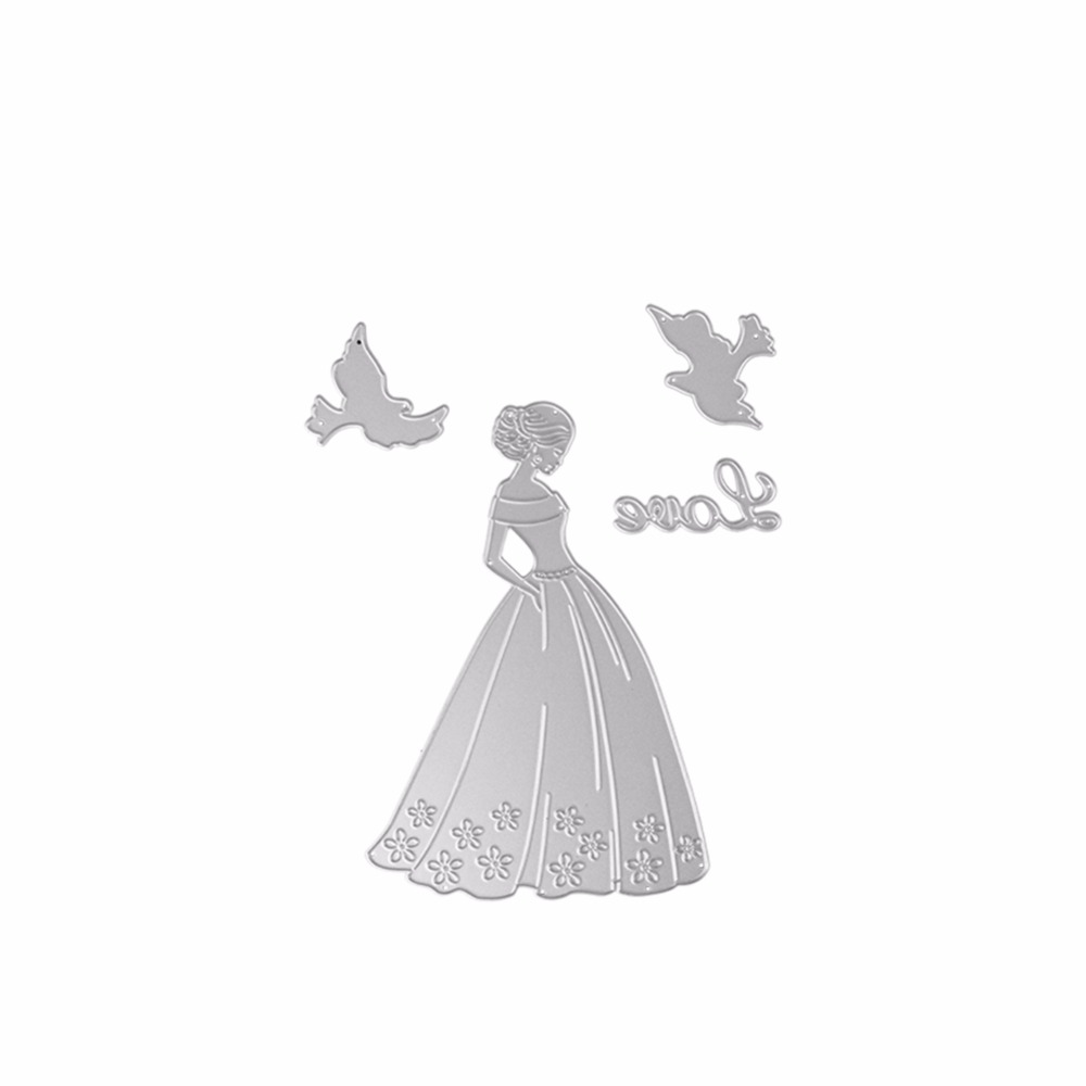 Valentine\'s Day Love Girl Model Dies Cutting Decorative Embossing ...