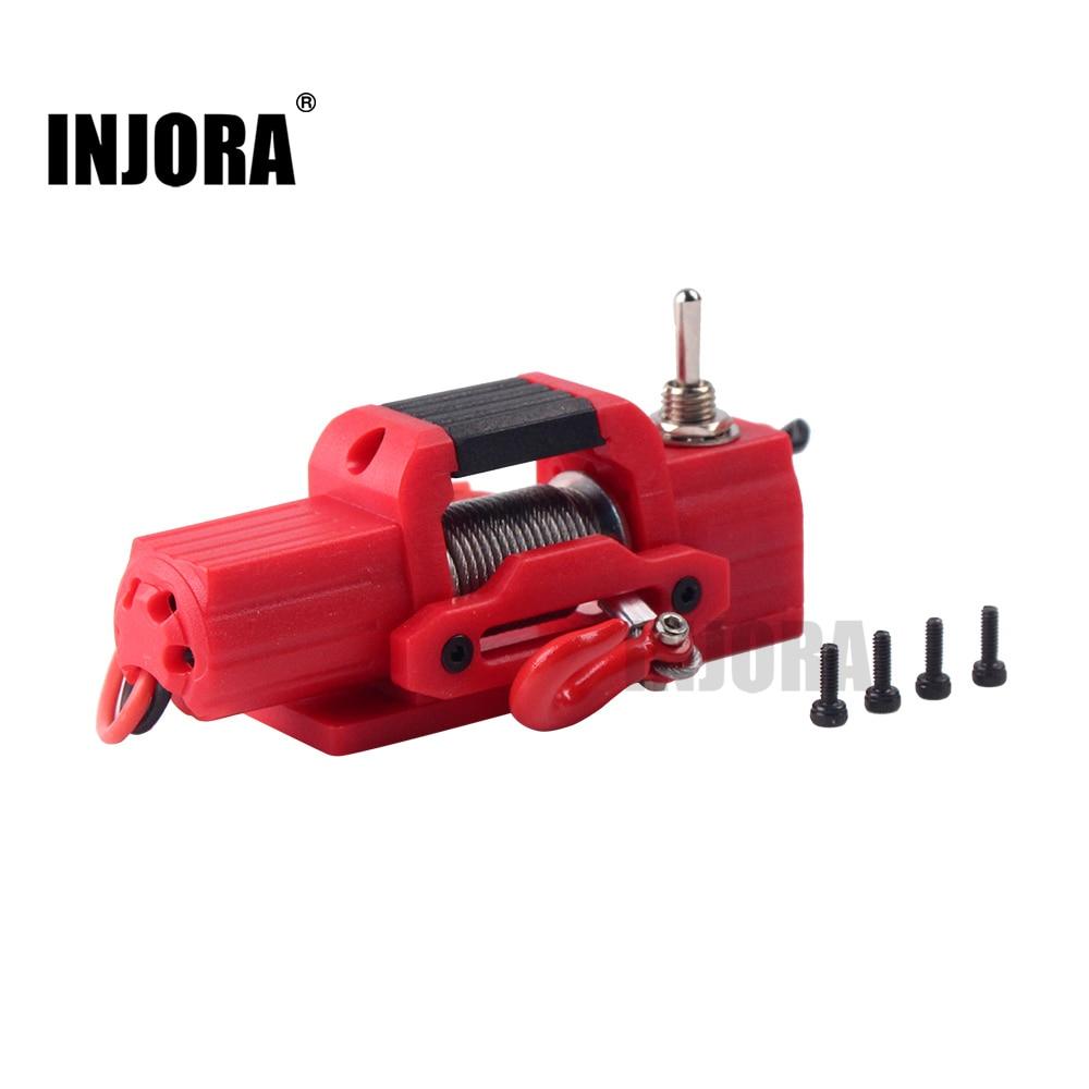 INJORA plástico Mini torno eléctrico para 1/10 RC Rock Crawler Traxxas TRX4 Axial SCX10 90046 D90 D110 Tamiya CC01