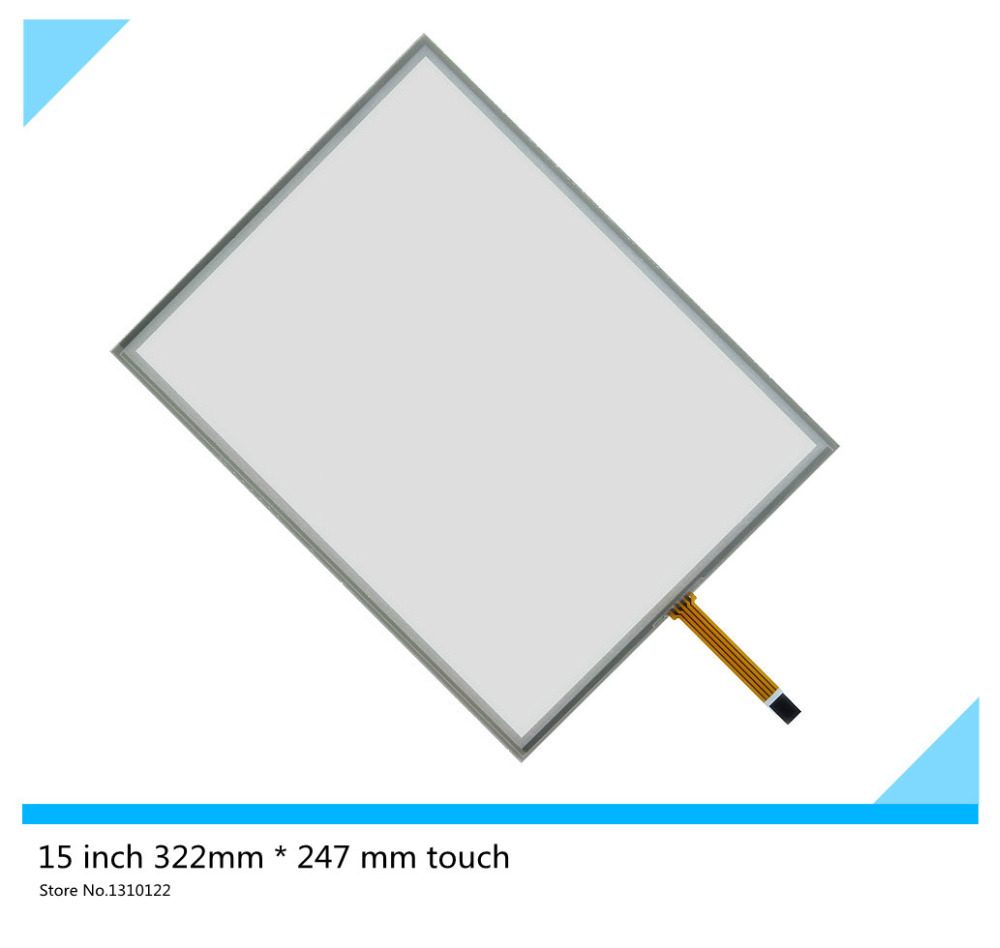 15 inch 4 wire 322mm*247mm Resistive Touch Screen Digitizer for cash register queuing machine Display the touchpad touch panel 19 inch resistive touch screen four wire computer monitor queuing machine to take the number of med ical equipment 323 195