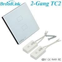 Broadlink EU UK TC2 Light Switch Wireless Remote Control 2 Gang Wall Switch Single Control Smart