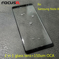 2in1 LCD Front Outer Glass Lens Replacement With 150um OCA For Samsung Note 8 N950 Mobile Phone Touch Panel Repair Parts
